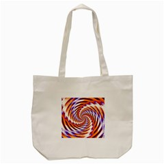 Woven Colorful Waves Tote Bag (cream)