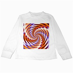 Woven Colorful Waves Kids Long Sleeve T Shirts