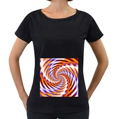 Woven Colorful Waves Women s Loose Fit T Shirt (black)