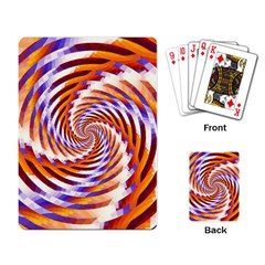 Woven Colorful Waves Playing Card