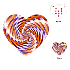 Woven Colorful Waves Playing Cards (heart)
