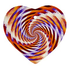 Woven Colorful Waves Heart Ornament (two Sides)