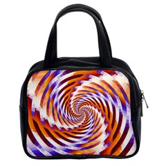 Woven Colorful Waves Classic Handbags (2 Sides)