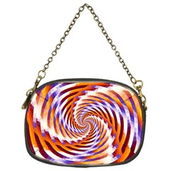 Woven Colorful Waves Chain Purses (one Side)