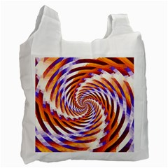 Woven Colorful Waves Recycle Bag (one Side)