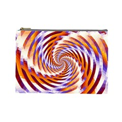 Woven Colorful Waves Cosmetic Bag (large)