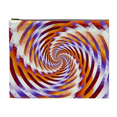 Woven Colorful Waves Cosmetic Bag (xl)