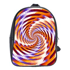 Woven Colorful Waves School Bag (large)
