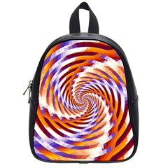 Woven Colorful Waves School Bag (small)