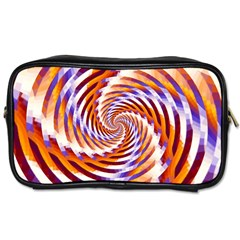 Woven Colorful Waves Toiletries Bags 2 Side