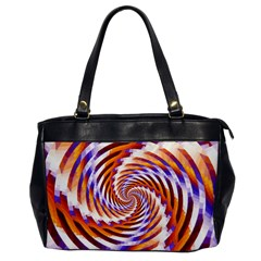 Woven Colorful Waves Office Handbags