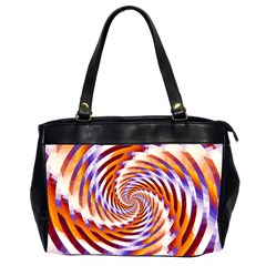 Woven Colorful Waves Office Handbags (2 Sides)