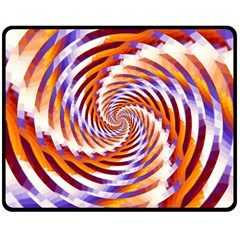 Woven Colorful Waves Fleece Blanket (medium)