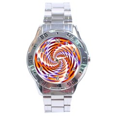 Woven Colorful Waves Stainless Steel Analogue Watch