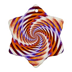 Woven Colorful Waves Snowflake Ornament (two Sides)