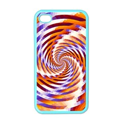 Woven Colorful Waves Apple Iphone 4 Case (color)