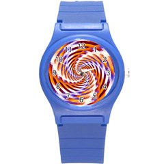 Woven Colorful Waves Round Plastic Sport Watch (s)