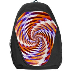 Woven Colorful Waves Backpack Bag