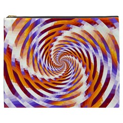 Woven Colorful Waves Cosmetic Bag (xxxl)