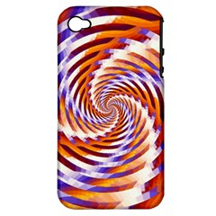 Woven Colorful Waves Apple Iphone 4/4s Hardshell Case (pc+silicone)