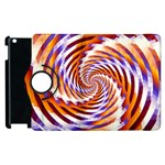 Woven Colorful Waves Apple iPad 3/4 Flip 360 Case Front