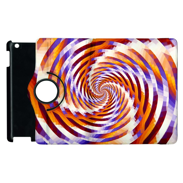 Woven Colorful Waves Apple iPad 3/4 Flip 360 Case