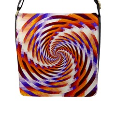Woven Colorful Waves Flap Messenger Bag (l)