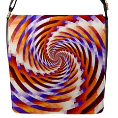 Woven Colorful Waves Flap Messenger Bag (s)
