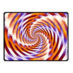 Woven Colorful Waves Double Sided Fleece Blanket (small)