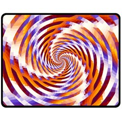 Woven Colorful Waves Double Sided Fleece Blanket (medium)
