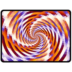 Woven Colorful Waves Double Sided Fleece Blanket (large)