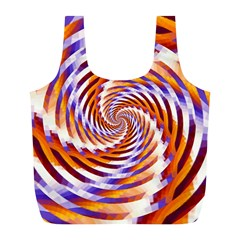 Woven Colorful Waves Full Print Recycle Bags (l)