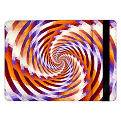 Woven Colorful Waves Samsung Galaxy Tab Pro 12 2  Flip Case