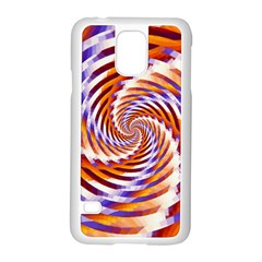 Woven Colorful Waves Samsung Galaxy S5 Case (white)