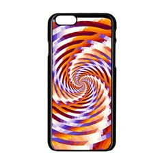 Woven Colorful Waves Apple Iphone 6/6s Black Enamel Case
