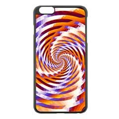 Woven Colorful Waves Apple Iphone 6 Plus/6s Plus Black Enamel Case
