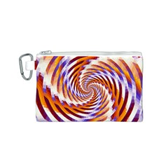 Woven Colorful Waves Canvas Cosmetic Bag (s)
