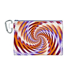 Woven Colorful Waves Canvas Cosmetic Bag (m)