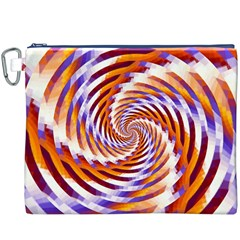 Woven Colorful Waves Canvas Cosmetic Bag (xxxl)