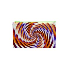 Woven Colorful Waves Cosmetic Bag (xs)