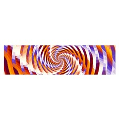 Woven Colorful Waves Satin Scarf (oblong)