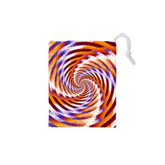Woven Colorful Waves Drawstring Pouches (xs)