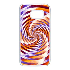Woven Colorful Waves Samsung Galaxy S7 White Seamless Case
