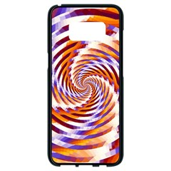 Woven Colorful Waves Samsung Galaxy S8 Black Seamless Case