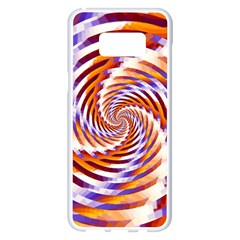 Woven Colorful Waves Samsung Galaxy S8 Plus White Seamless Case