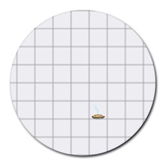 Pie Cooling On The Window Pane Pattern Round Mousepads