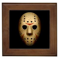 Jason Hockey Goalie Mask Framed Tiles