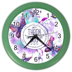 Thank You Color Wall Clocks
