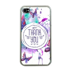 Thank You Apple Iphone 4 Case (clear)