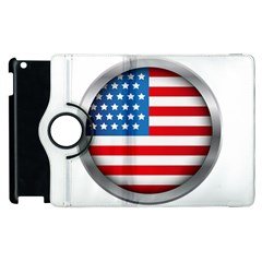 United Of America Usa Flag Apple Ipad 3/4 Flip 360 Case